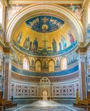 Absid av basilikan av helgonet John Lateran i Rome Arkivfoto