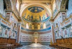 Absid av basilikan av helgonet John Lateran i Rome Arkivfoton