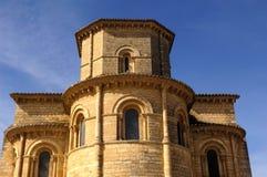 Absid av den kyrkliga Sanen Martin de Tours, Fromista, Palencia Arkivbild