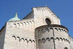 Absid av den Romanic kyrkan i Ancona, Marche, Italien Royaltyfria Foton