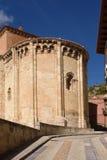 Absid av den romanska kyrkan av San Miguel eller San Valero, Daroca, Z Arkivbild