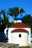 Absid av kyrkan av St Theodore Ushakov i Herceg Novi Arkivbild