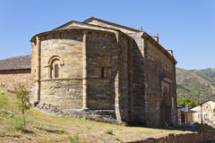 Absid av Santiago Church i Villafranca del Bierzo Arkivbild