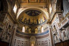 Absid i basilikan av St John Lateran i Rome Italien Arkivbild