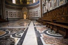 Absid i basilikan av St John Lateran i Rome Italien Arkivbilder