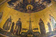 Absid i basilikan av St John Lateran i Rome Italien Royaltyfria Foton