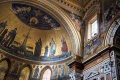 Absid i basilikan av St John Lateran i Rome Italien Arkivfoton