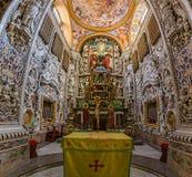 Absid med det huvudsakliga altaret av den Martorana kyrkan i Palermo i S Fotografering för Bildbyråer