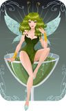 Absinth fairy vector illustration