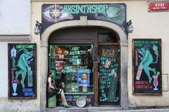 Absinth Shop. Exterior in Prague Stock Photos