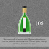 Absinthe alcoholic beverage card template Royalty Free Stock Photos