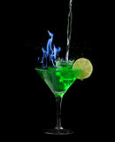 Absinthe on black Stock Image