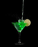 Absinthe on black Royalty Free Stock Photo