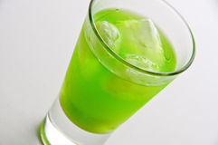 Absinthe drink with ice. Horizontal stock images