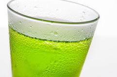 Absinthe drink with ice Stock Photo