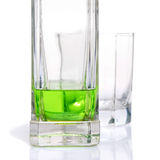 Absinthe liqueur bottle. On a white background Royalty Free Stock Image
