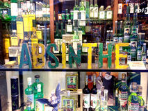 Absinthe shop Royalty Free Stock Images