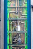 Absintherie steam punk window in Prague Royalty Free Stock Photography