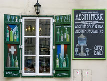 Absinthwinkel in Praag stock foto