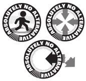 Absolument aucune conception alternative de logo de symbole d'estampille illustration libre de droits