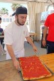 Absolut italiensk mästerskap av pizza Arkivbilder