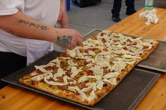 Absolut italiensk mästerskap av pizza Fotografering för Bildbyråer