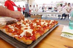 Absolut italiensk mästerskap av pizza Royaltyfri Fotografi