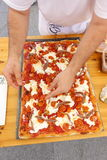Absolut italiensk mästerskap av pizza Arkivfoton