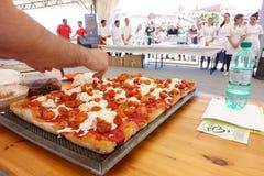 Absolut italiensk mästerskap av pizza Arkivbild