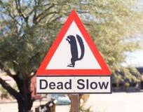 Absolut långsamt vägmärke Fotografering för Bildbyråer