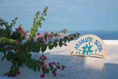 Absolut salighet på den Imerovigli Santorini ön Grekland Royaltyfri Bild