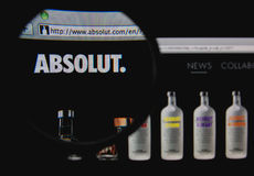 Absolut vodka Arkivfoton