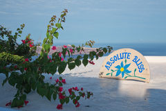 Absolute Bliss on Imerovigli Santorini Island greece royalty free stock image