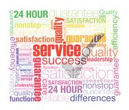 Absolute customer satisfaction. Service concept was created with typographic design Royalty Free Stock Photos