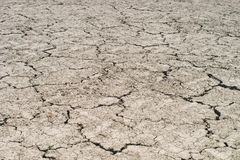 An absolute dry ground with splits. In a hot summer Stock Photography