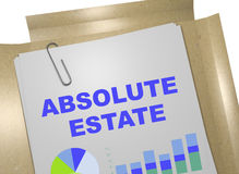 Absolute Estate concept. 3D illustration of ABSOLUTE ESTATE title on business document royalty free illustration