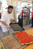 Absolute Italian championship of pizza. Civitavecchia Rome Italy is awarded the pizza championship for the seventeenth edition of the Absolute National royalty free stock image