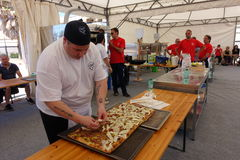 Absolute Italian championship of pizza Royalty Free Stock Photo