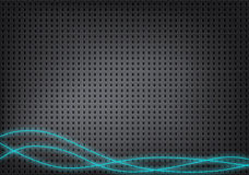 Absolute metallic background with small holes and blue lines. Absolute metallic background with small square holes and blue lines Stock Image