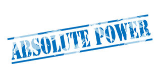Absolute power blue stamp. Isolated on white background royalty free illustration