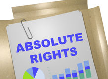 Absolute Rights concept Stock Photos