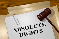 Absolute Rights - legal concept Royalty Free Stock Image