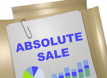 Absolute Sale concept. 3D illustration of ABSOLUTE SALE title on business document Royalty Free Stock Photos