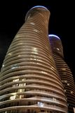 Absolute Towers Mississauga Toronto night photo Royalty Free Stock Photos