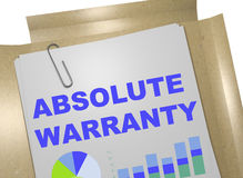 Absolute Warranty concept. 3D illustration of ABSOLUTE WARRANTY title on business document Royalty Free Stock Image