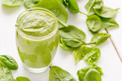 Free Absolutely Amazing Tasty Green Avocado Shake Or Smoothie, Made With Fresh Avocados, Banana, Lemon Juice And Non Dairy Milk Stock Photos - 78261473