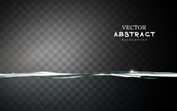 Absolutely clear water element. Absolutely clear still water element, transparent background Royalty Free Stock Image