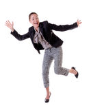 Absolutely happy woman royalty free stock photos