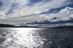 Absolutely stunning clouds and sea view. In Tasmania of Australia stock photography