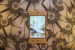Absolutism för tarokkort Labirinth tarokdäck esoterisk bakgrund Royaltyfria Bilder